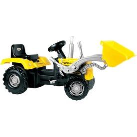 Dolu pedálos traktor markolóval - 106 cm