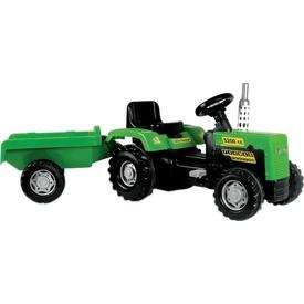 Dolu pedálos traktor utánfutóval - 173 cm