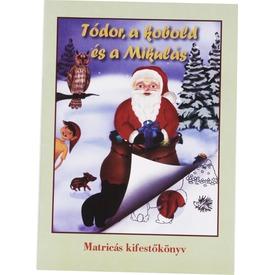 Kifestő könyv matricás karácsonyi