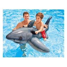 Óriás fehér cápa lovagló - 173 x 107 cm