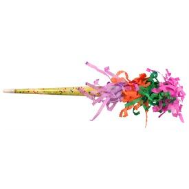 Színes rojtos papírtrombita - 35 cm