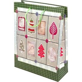 Retro karácsony ajándéktáska - 31 x 40 cm