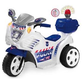 Elektromos háromkerekű rendőrmotor - 72 cm, 6V