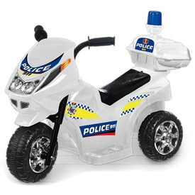 Elektromos háromkerekű rendőrmotor - 65 cm, 6V