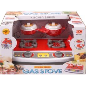 Elemes tűzhely edényekkel