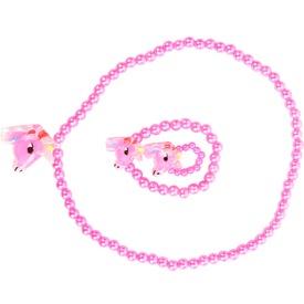 Színes virág nyaklánc + karkötő