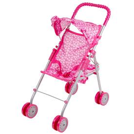 Babakocsi kosárral és árnyékolóval - rózsaszín