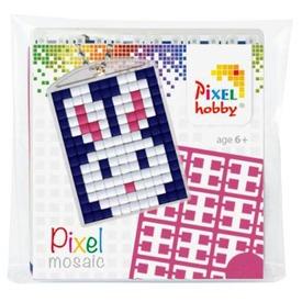 Pixel kulcstartó készlet - nyuszi