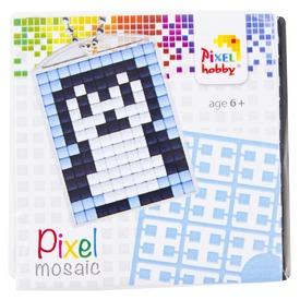 Pixel kulcstartó készlet - pingvin