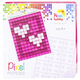 Pixel kulcstartó készlet - szívek