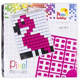 Pixel kulcstartó készlet - flamingó