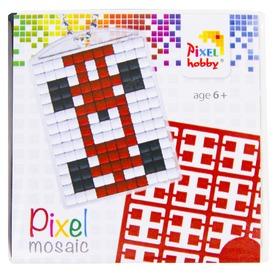 Pixel kulcstartó készlet - versenyautó
