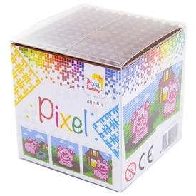 Pixel kocka készlet - malac