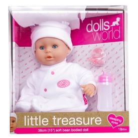 Little Treasure babzsákos baba fehér ruhában - 38 cm Itt egy ajánlat található, a bővebben gombra kattintva, további információkat talál a termékről.