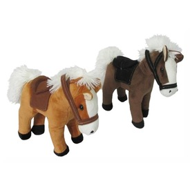 Plüss ló hangotadó álló K