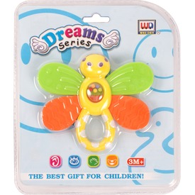 Műanyag pillangós csörgő