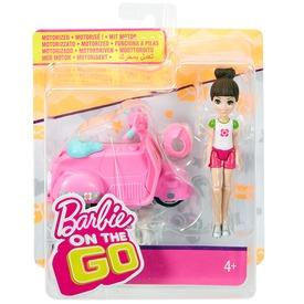 Barbie: On the Go baba járművel - 10 cm, többféle