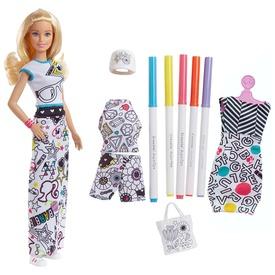 Barbie: Crayola ruhaszínező baba - 29 cm