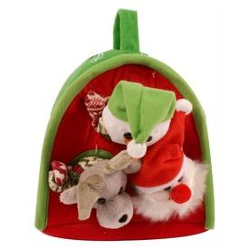 Karácsonyi házikó bábokkal, 20 cm