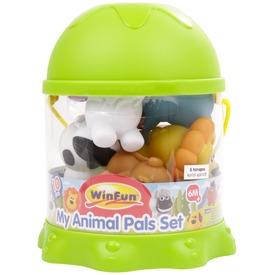 Műanyag állatok 10 darabos bébijáték készlet