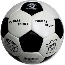 Puskás Sport bőr focilabda - 22 cm
