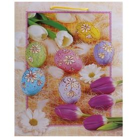 Húsvéti mintás papírtasak - 18 x 23 cm