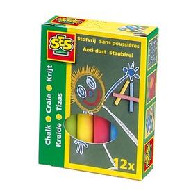 SES táblakréta 12 darabos készlet - színes