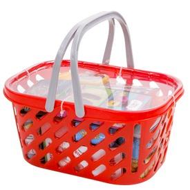 Bevásárlókosár játék élelmiszerekkel