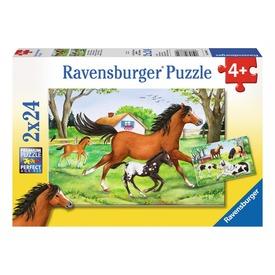 Lovak 2 x 24 darabos puzzle