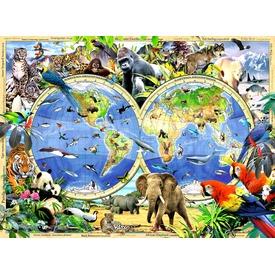 Állatok térképe 300 darabos XXL puzzle