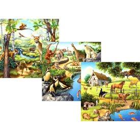 Állatok 3 x 49 darabos puzzle Itt egy ajánlat található, a bővebben gombra kattintva, további információkat talál a termékről.