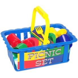 Piknik étkészlet kosárban - többféle