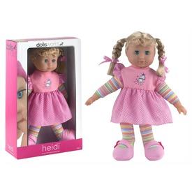 Heidi puha baba hosszú hajjal - 41 cm, többféle