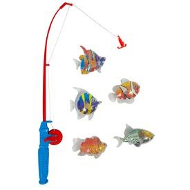 Horgász készlet - mágneses, 5 db átlátszó hallal