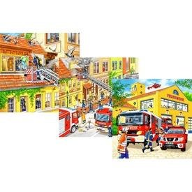 Tűzoltók 3 x 49 darabos puzzle