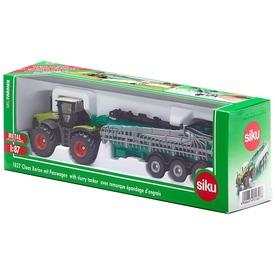 SIKU: Claas Xerion traktor locsoló utánfutóval - 1:87