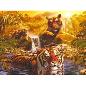Puzzle 2000 db - Tigrisek Itt egy ajánlat található, a bővebben gombra kattintva, további információkat talál a termékről.