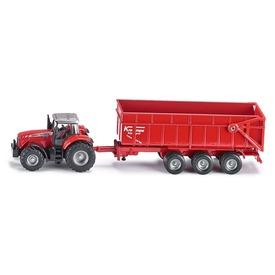 Siku: Massey-Ferguson 8460 traktor utánfutóval 1:87 - 1844