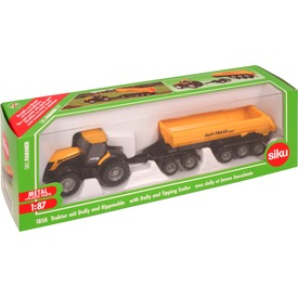 SIKU JCB traktor dömper utánfutóval - 1:87 - 1858