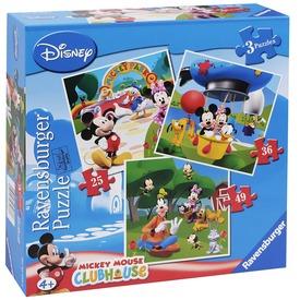 Mikiegér játszóháza 25, 36 és 49 darabos puzzle