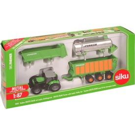 SIKU: Deutz-Fahr traktor Joskin utánfutókkal 1:87 Itt egy ajánlat található, a bővebben gombra kattintva, további információkat talál a termékről.