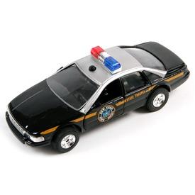 Fém rendőrautó fénnyel-hanggal - 13 cm, többféle
