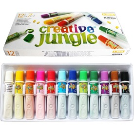 Creative Jungle tempera készlet - 12 x 7 ml