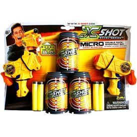 X-Shot Micro szivacslövő pisztoly dupla készlet