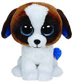 Beanie Boos DUKE barna /fehér kutya plüss 15 cm