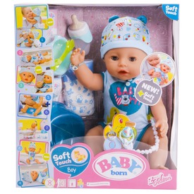 Baby Born interaktív fiú baba - 43 cm