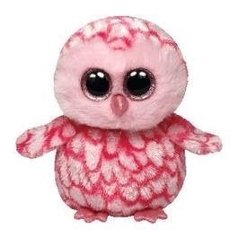 Beanie Boos TWIGGY rózsaszín bagoly plüss 15 cm