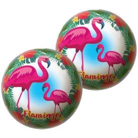 Labda 15 cm - Flamingó és tukán