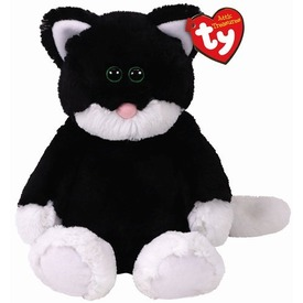 Attic Treasures BESSIE fekete-fehér macska 24 cm