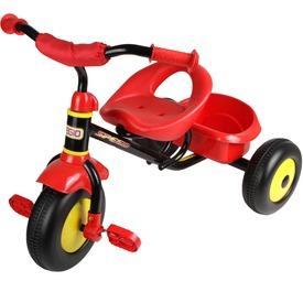 Fémvázas tricikli - piros